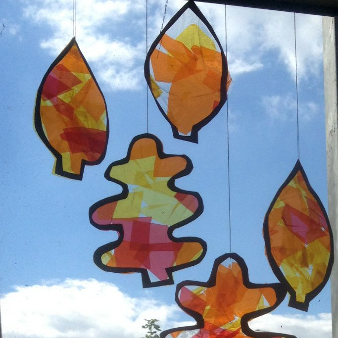 These autumn leaf suncatchers are a great craft for kids or toddlers and a fun way to welcome in the fall!