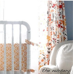 nursery. I love the yellow crib bumper...mum wanna make it...let's keep our eye out for the fabric!