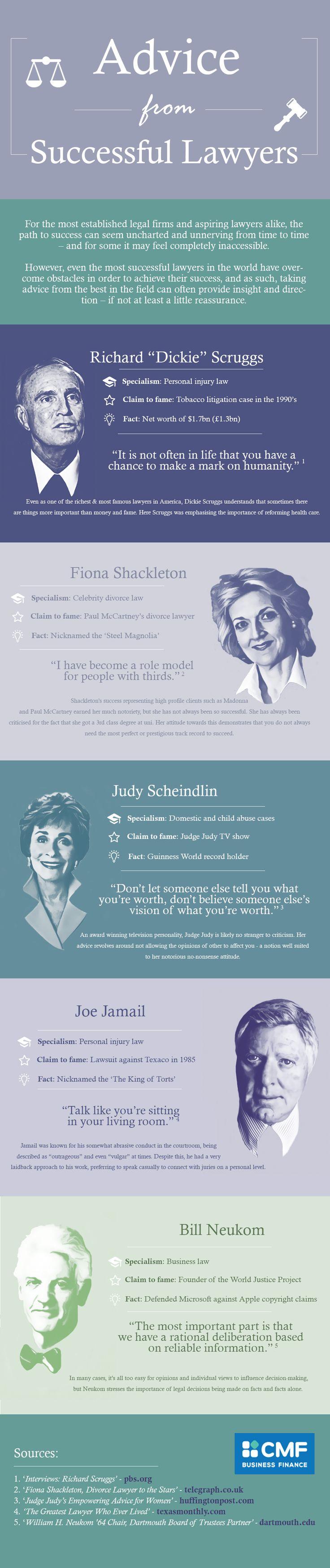 Advice from Successful Lawyers #Infographic #Advice #Quotes ...repinned für Gewinner! - jetzt gratis Erfolgsratgeber sichern www.ratsucher.de