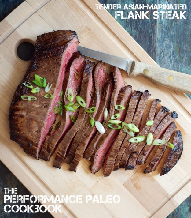 Tender Asian-Marinated Flank Steak: Performance Paleo Cookbook | stupideasypaleo.com