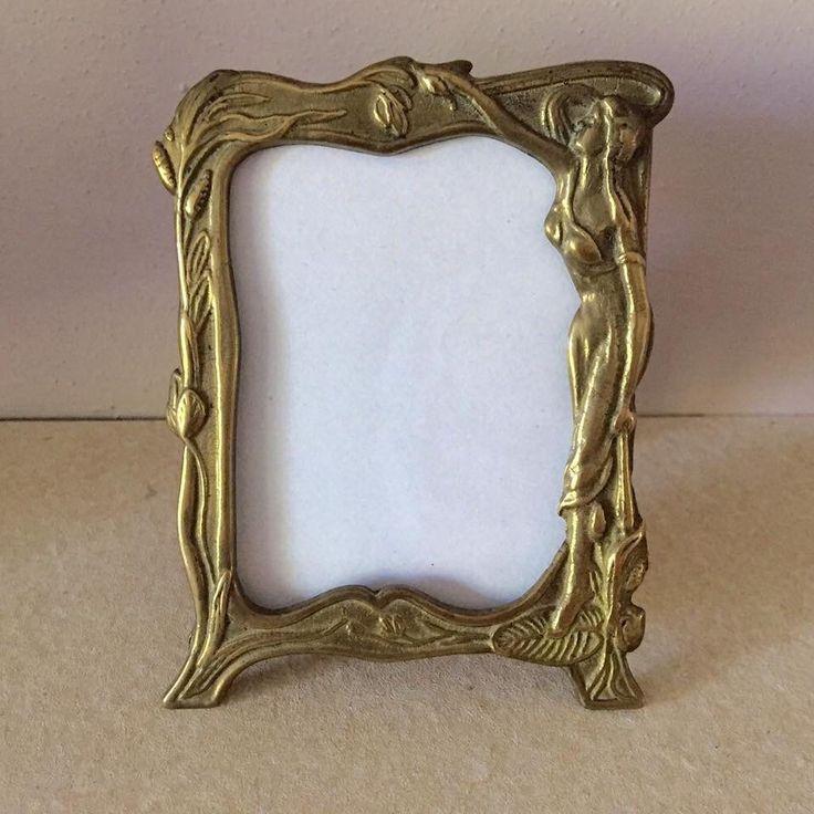 Art deco frame art deco photo frame brass photo frame