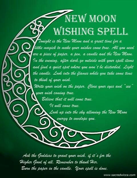 New moon spell- Pinned by The Mystic's Emporium on Etsy
