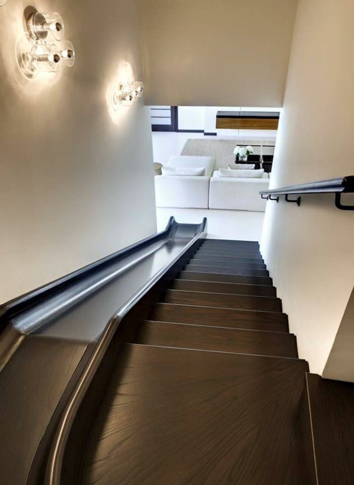 les 25 meilleures id es de la cat gorie escalier toboggan sur pinterest inventions pour b b s. Black Bedroom Furniture Sets. Home Design Ideas
