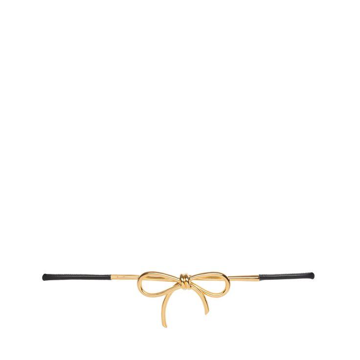 Balenciaga Gold Bow Belt Balenciaga - Belts Women - Belts Balenciaga