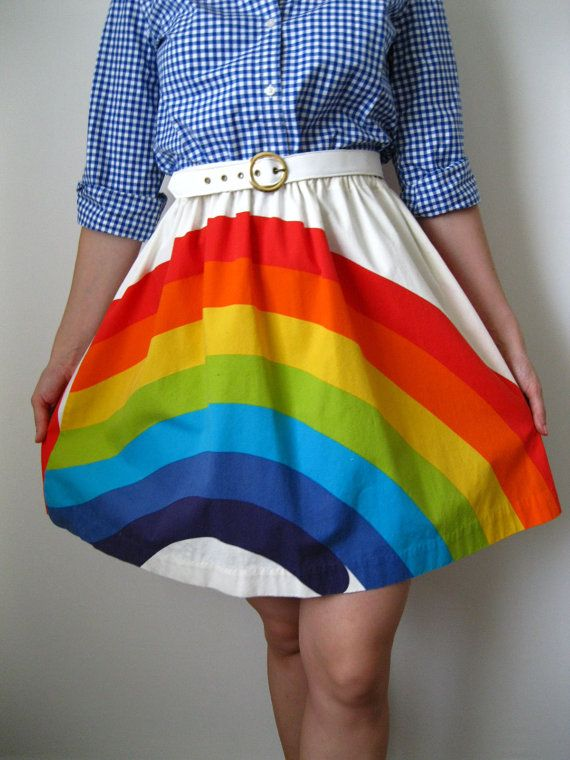 rainbow skirt!