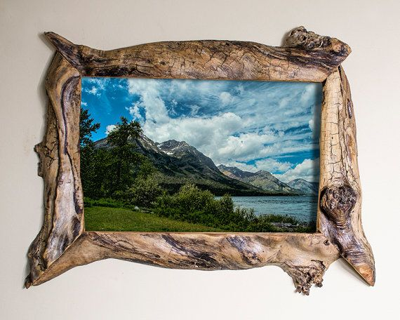 8x12 Driftwood Picture Frame with Glass and by SaphariRusticFrames