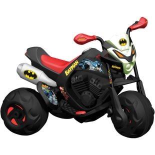 Moto Elétrica Infantil Bandeirante Batmoto - EL 6V Batman, diversão para seu filho.    No tamanho que faltava e com os personagens que fazem a alegria da criançada.