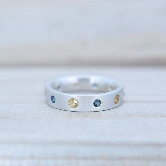 The Queen Modern Silver Eternity Ring by MonaPink on Etsy