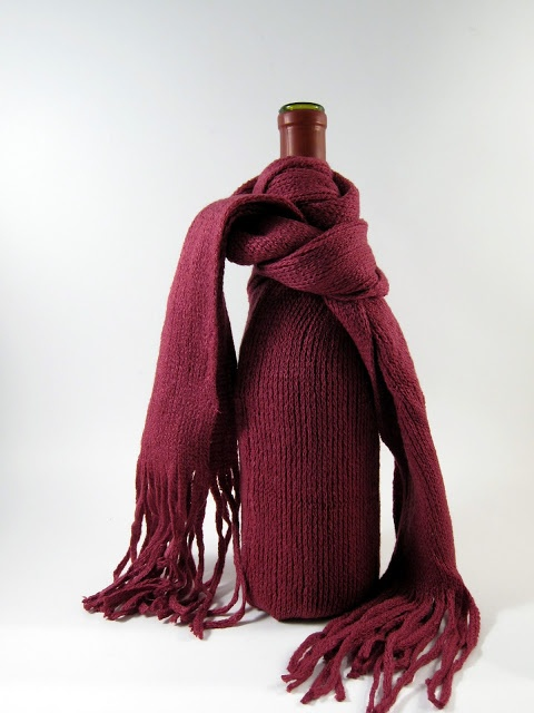 DIY::dollar store scarves into wine bags.