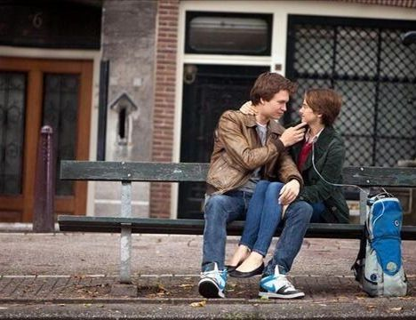 Still from The Fault In Our Stars movie.. Heart hurting