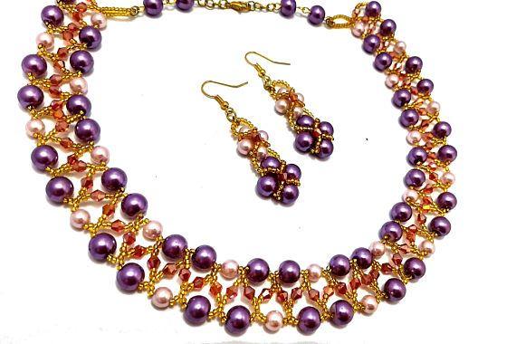 Purple statement necklace, purple beaded necklace https://www.etsy.com/in-en/listing/536341323/purple-statement-necklace-purple-beaded