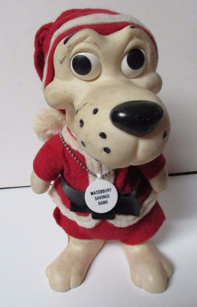 52.00 1968 Christmas Dog Bank - Waterbury Saving Bank Giveaway