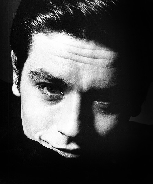 Alain Delon by Bert Stern, 1962.