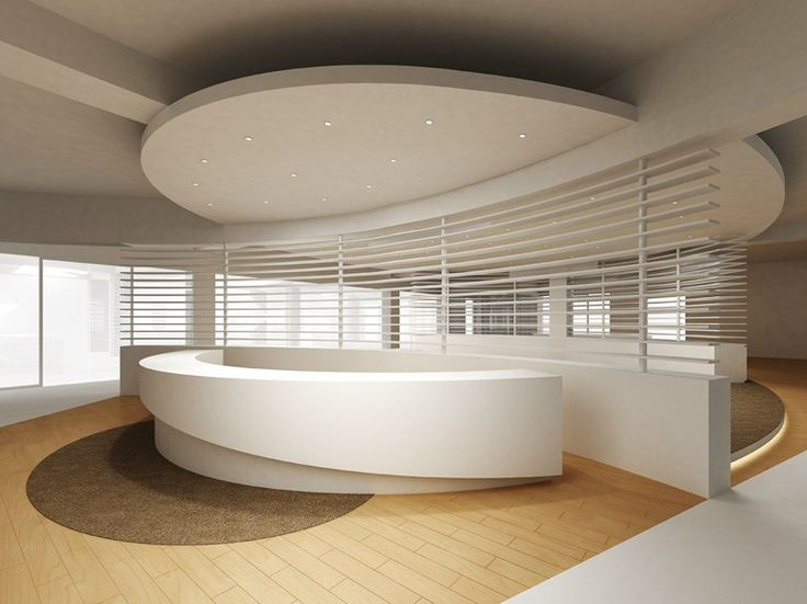Empfangstresen aus Solid Surface® AVONITE by Avonite Surfaces By Aristech Surfaces
