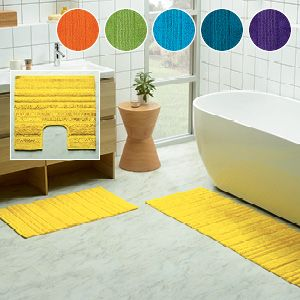 Think smart, stylish and colourful with the Cooper Brights range of floor mats. Featuring a high-low weave, the cotton mats are thick, absorbent and comfortable underfoot, co-ordinating beautifully with our Cooper Brights towelling for a brilliant bathroom look.