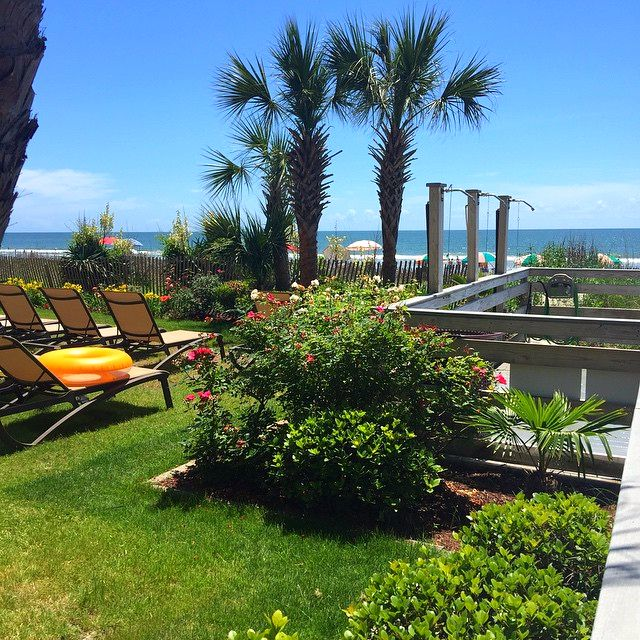 Long Bay Resort, in Myrtle Beach, South Carolina features oceanfront pools, lazy rivers, hot tubs, Tiki Hut, Oceanview Café, Martin's Restaurant, Starbucks, and more!    (Photo via Instagram by @victheagent - Click on the pin for more info and other places to stay in Myrtle Beach, South Carolina)