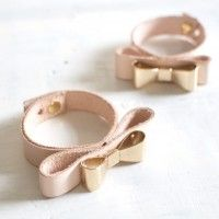 Recently I've felt an urge to deck myself out in a few gold bows, maybe it's a nod to the final golden hours of summer, or the fact that I'm off to Japan this weekend where bows are practically a uniform, but I can't get enough of them. Recently I created this leather bow bracelet and...