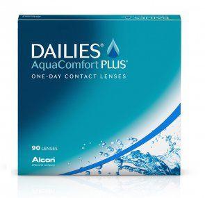 Soczewki kontaktowe DAILIES AquaComfort Plus 90 szt. - soczewki jednodniowe, sferyczne