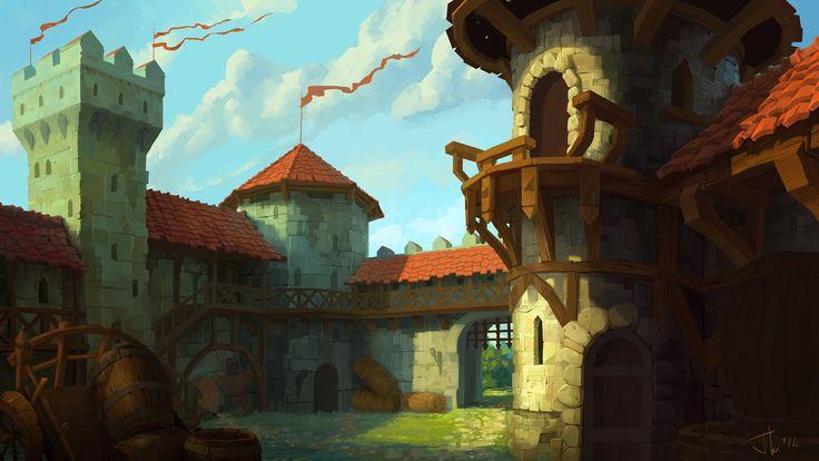 castle yard, Ivan Ovsyannikov on ArtStation at http://www ...
