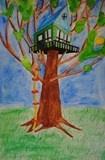 Artsonia Art Exhibit :: 2-Point Linear Perspective Treehouse  http://theteachingpalette.com/wp-content/uploads/2011/09/Tree-House-Lesson-Plan.pdf