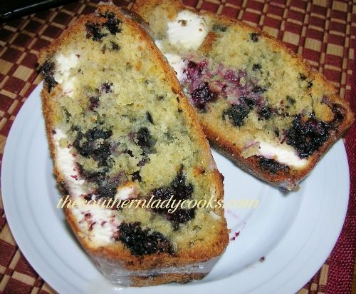 This blackberry cream cheese bread is so good in the morning for breakfast with a cup of coffee.  We like it as a snack anytime, too.  You could use all kinds of fruit and berries to make this brea...