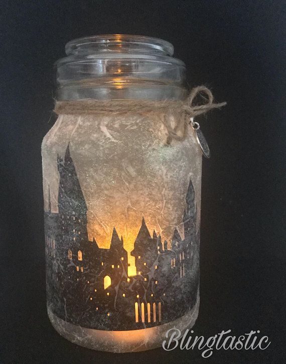 Harry Potter Silhouette Lamp LED Lights Handmade Gift Battery Powered