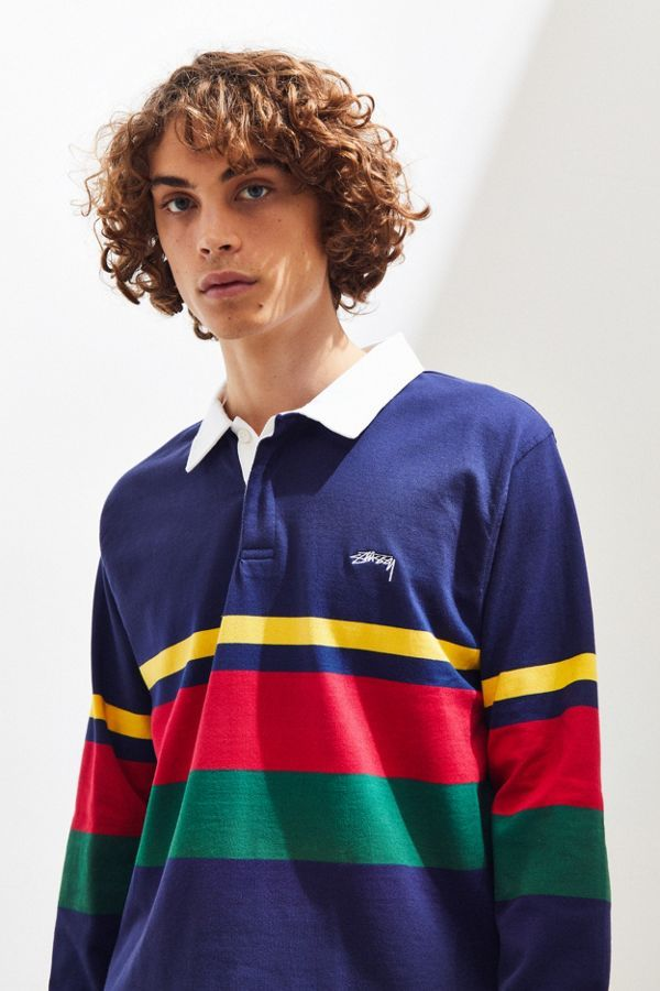 bc290e745f4 Stussy Lucas Stripe Rugby Shirt in 2019 | My Wishlist☆ | Stussy ...