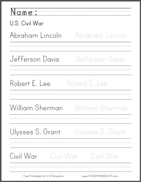 Modest image inside civil war printable activities