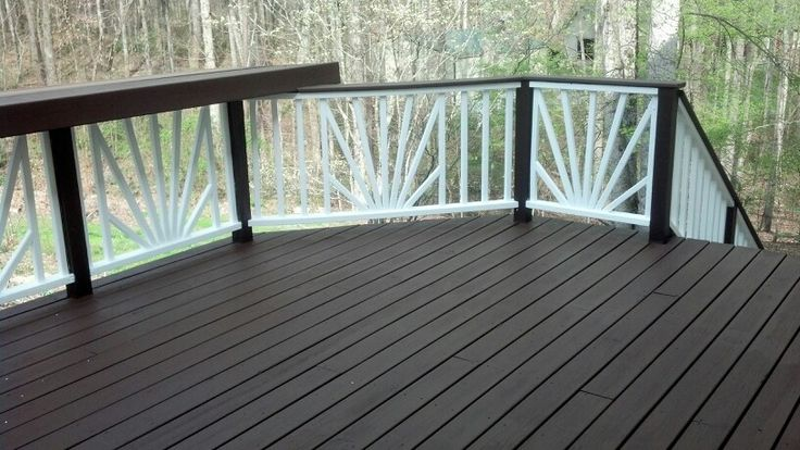 Deck stain/paint: I used Behr solid color wood stain-Padre Brown-Photo ...