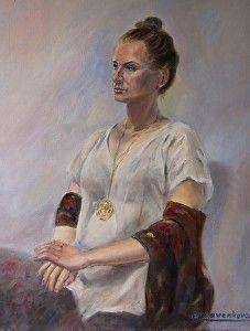 Resting Dancer by Elvira Kravenkova in the FASO Daily Art Show