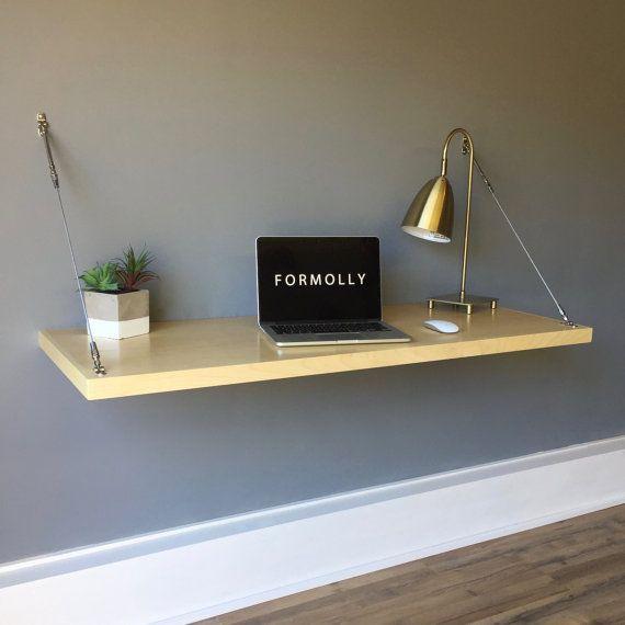Montado en la pared escritorio flotante arce por FormollyDesks