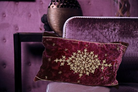 Decorative Velvet Cushions//Decorative throw by SidrealHome