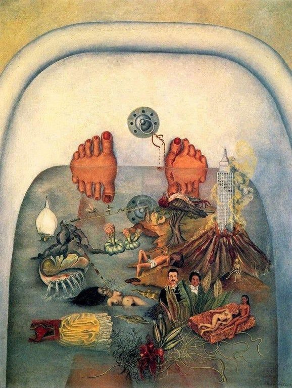 "Frida Kahlo - ""What the water gave me"" - 1938 x : ArtPorn Kahlo Paintings, Frida Kahlo Artwork, Garden Of Earthly Delights, Diego Rivera, Art Sketchbook, Great Artists, Female Art, Art History, Flower Art"