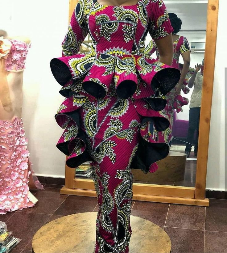 latest ankara skirt and blouse styles for ladies:2…