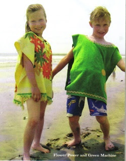 No-sew towel ponchos for Kiwi Magazine, Summer '07