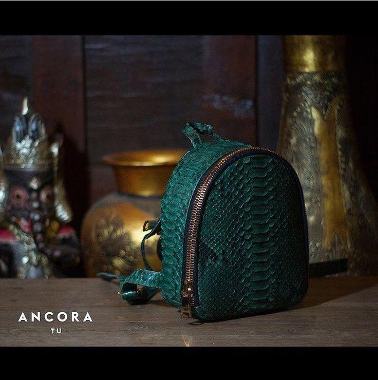 Python leather Backpack. Designer leather backpack. Handmade Fashionable Leather Backpack by StudioANTU on Etsy