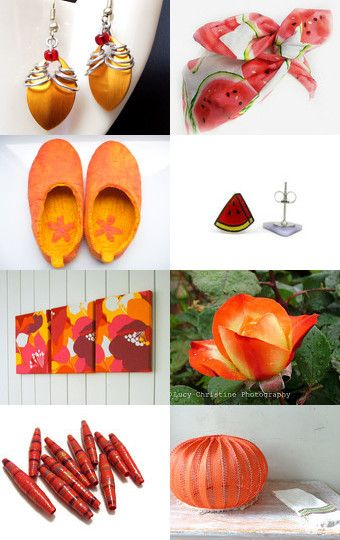 watermelon and orange by Stuart McWilliam on Etsy--Pinned with TreasuryPin.com