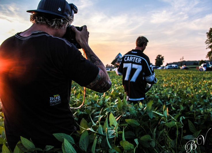 Foxy Dave Sandford capturing Carter during sunset with the cup.: The King, Jeff Carter, Capture Carter