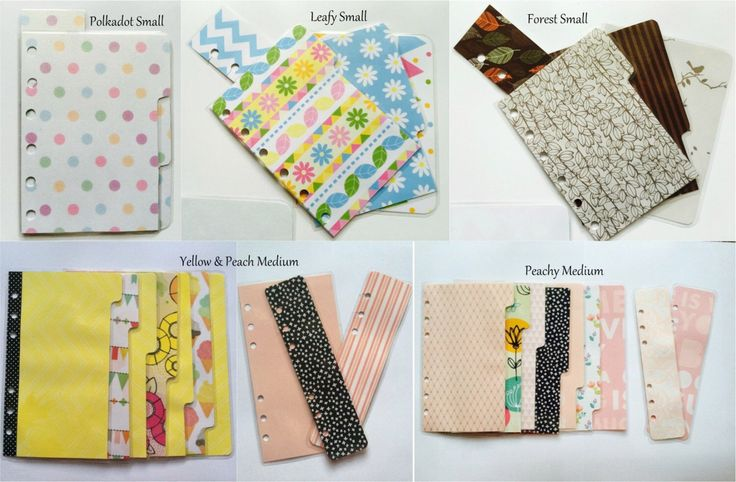 HANDMADE Planner / page dividers for Kikki-K (Small / Medium) and Filofax (Pocket / Personal), Kikki-K, Filofax, Kate Spate Planners by DSPBoutique on Etsy https://www.etsy.com/listing/246637398/handmade-planner-page-dividers-for-kikki