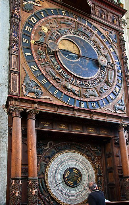 Zodiac Clock, St. Mary's Church, Rostock, Germany