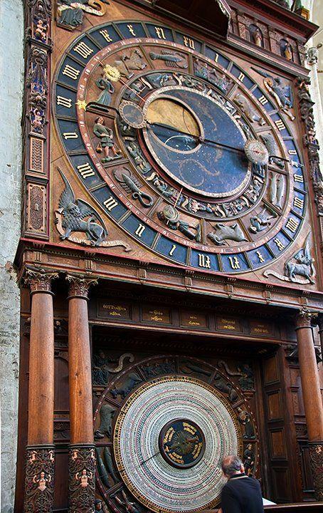 Zodiac Clock, St. Mary's Church, Rostock, Germany