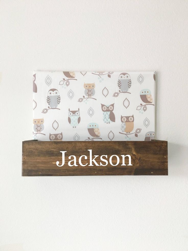 Owl Name Sign, Owl Nursery Decor, Owl Bedroom Decor, Boys Bedroom Decor, Tribal Nursery Decor, Boy Gifts, Boys Storage, Boys Shelf, Rustic by BradleyAccessories on Etsy https://www.etsy.com/listing/588858969/owl-name-sign-owl-nursery-decor-owl