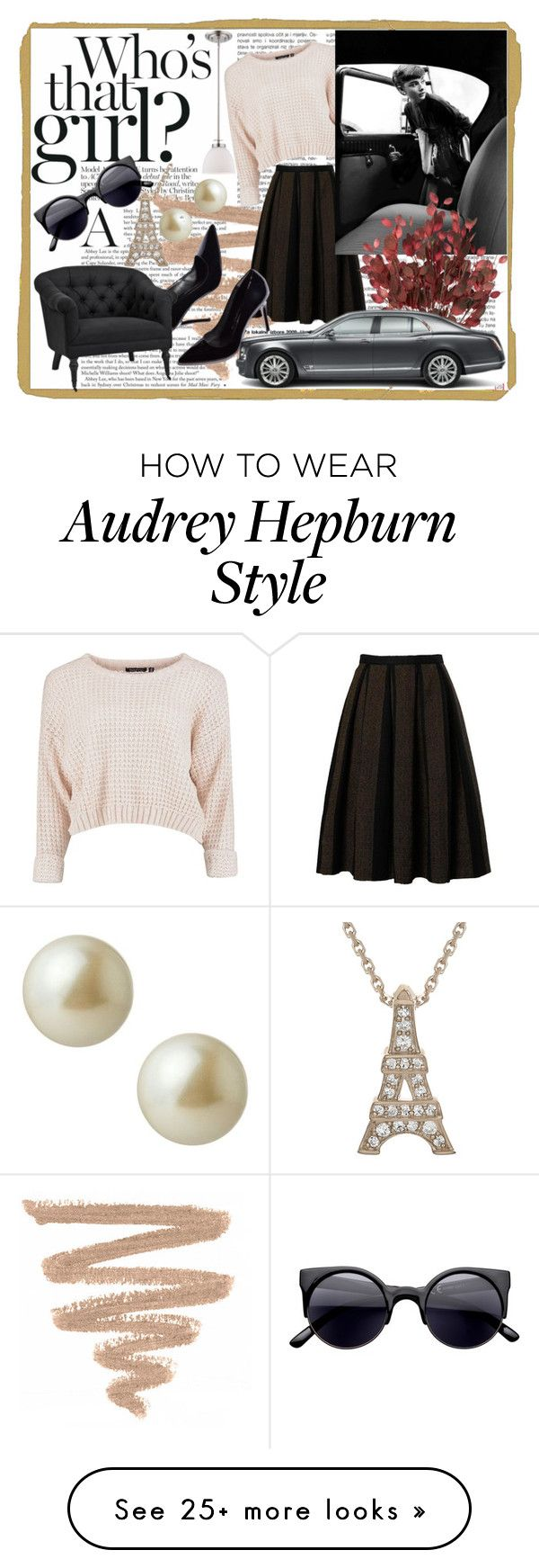 """""""Audrey H."""" by catgoddess on Polyvore featuring Bardot, Eichholtz, Carolee, audrey and hepburn"""