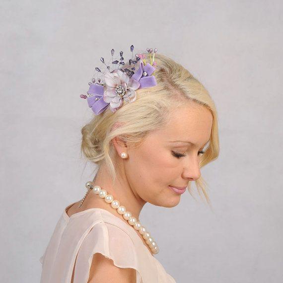 Bridal Flower Hair Accessory Wedding Hair Flower by VelvetTeacup, $48.00