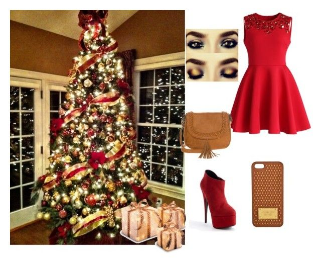 """Mery crismas"" by aleksandra-20 ❤ liked on Polyvore featuring CO, Chicwish, Giuseppe Zanotti, even&odd and MICHAEL Michael Kors"