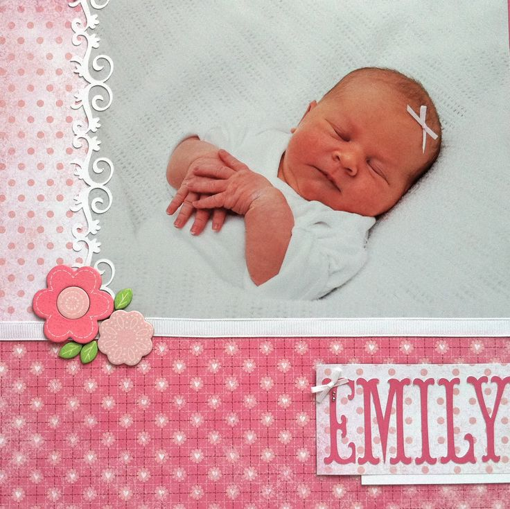 Scrap booking layouts for baby girls   CTMH   Scrapbook Snippets: Baby Girl Layout