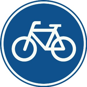 This is what a cycle path sign in Holland looks like.The country is well-equipped with cycle-paths and other segregated cycle facilities. These networks of cycle paths exist in all towns as well as in rural areas: for bicycle tourism, the Dutch National Cycle Network reaches all corners of the nation.