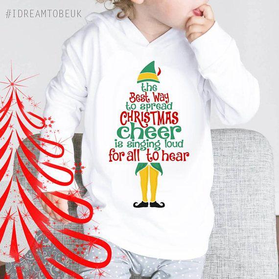 Christmas Cheer baby hoodie  buddy the elf baby shower gift