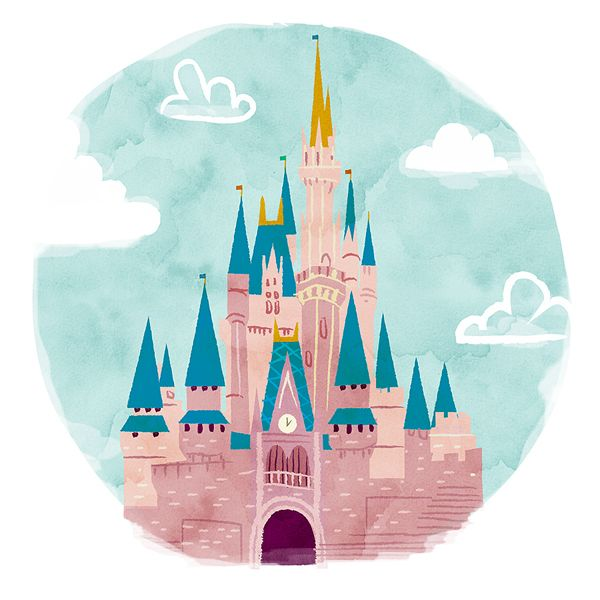 Disney Castle - Lindsay J. Haynes | Illustration, Lettering, Design