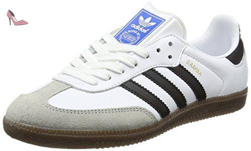 adidas Samba, Sneakers Basses Mixte Adulte, Blanc (Footwear White/Core Black/Clear Granite), 38 2/3 EU - Chaussures adidas (*Partner-Link)